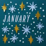 January Calendar Flip