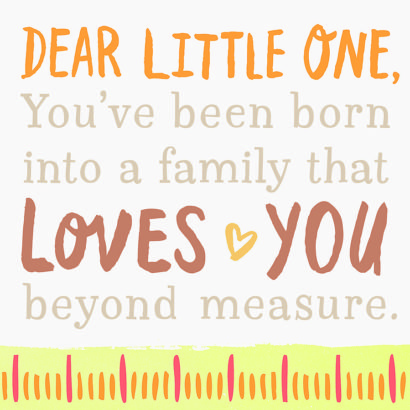 Dear Little One Sentiment Block