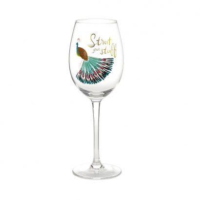 Strut Your Stuff Wine Glass