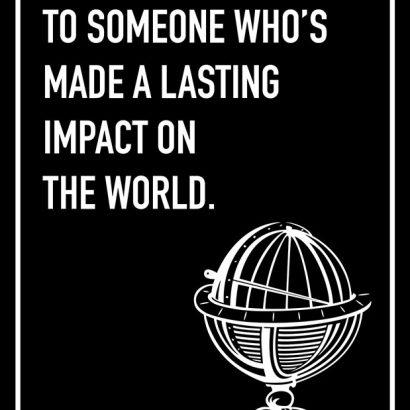 Impact on the World Shoebox Card