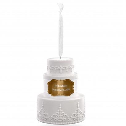 Porcelain Wedding Cake Personalized Ornament