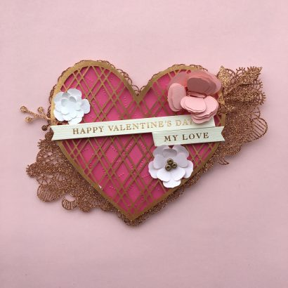 Valentine's Day Card-Fancy Heart