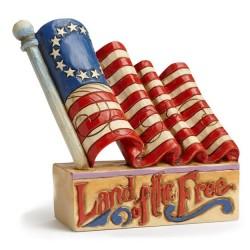Jim Shore Mini Patriotic Flag Figurine