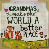 Natural Life Corner Magnet Grandmas Make the World Better