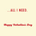 Romantic Valentine's Day Card With Vinyl Record