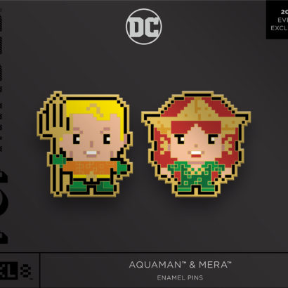 Aquaman & Mera Enamel Pins