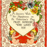 Undated Valentine's Day Card says a sincere wish for happiness on saint valentine's day from someone who loves you