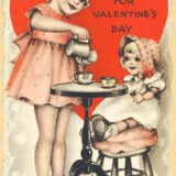 1939 Valentine's Day Card says for valentine's day