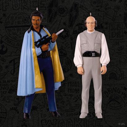 Star Wars The Empire Strike Back Lando Calrissian and Lobot Keepsake Ornament two-pack