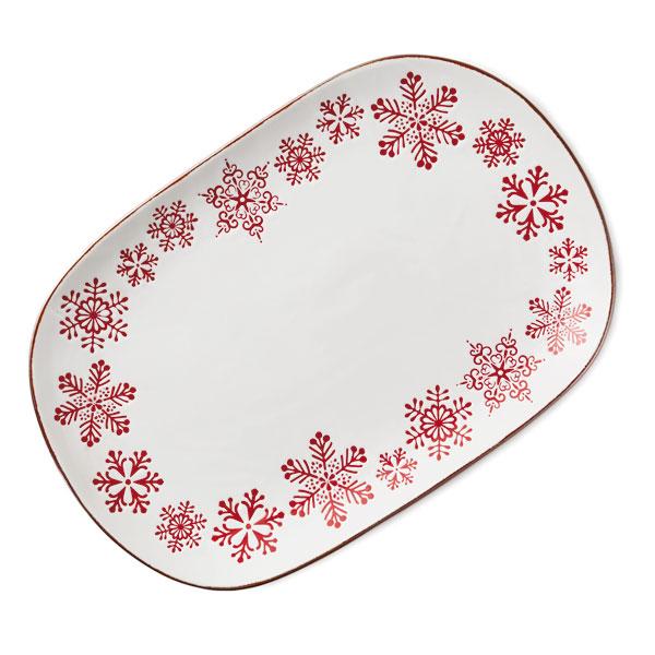 Large Snowflake Platter