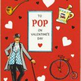1956 Valentine's Day Card says To Pop on valentine's day