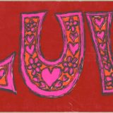 1968 Valentine's Day Card says Luv