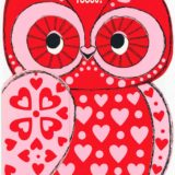 1977 Valentine's Day Card says Guess Who Like you? and has a picture of an owl