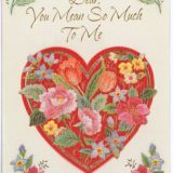 1982 Valentine's Day Card says Dear you mean so much to me
