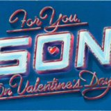 1983 Valentine's Day Card says for you son on valentine's day