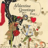 1920 Valentine's Day Card Says Valentine Greetings From Blank