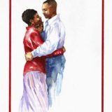 1996 Valentine's Day Card has a picture of an African American couple dancing together