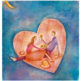 2002 Valentine's Day Card has a picture of a couple having a romantic picnic