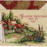 1930 Valentine's Day Card says valentine greetings just for you