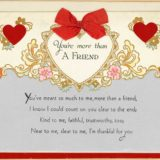 1931 Valentine's Day Card says You're more than a friend