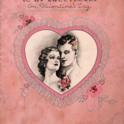 1933 Valentine's Day Card says to my sweetheart on valentine's day