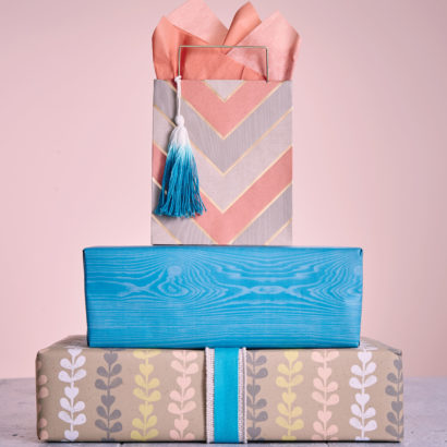 Hallmark Gift Wrap - Eclectic Kraft Collection One Bag and Two Gift Wraps