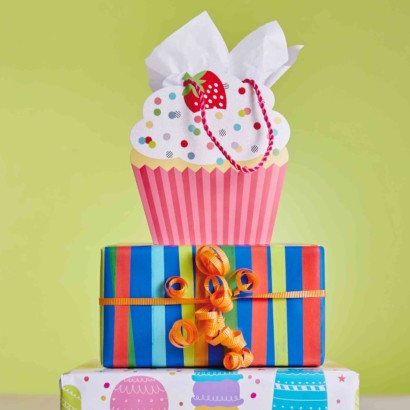 Hallmark Gift Wrap - Kids Collection CupCake Bag and Party Gift Wrap