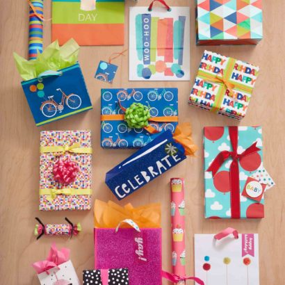 Hallmark Gift Wrap - Bright and Modern Collection Bags, Gift Wrap, and Tags