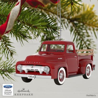 All-American Truck 1954 Mercury m-100 Metal Keepsake Ornament