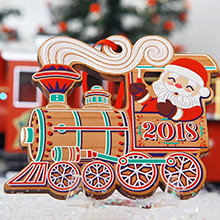 2018 Mayor's Christmas Tree Ornament Santa Riding a Train