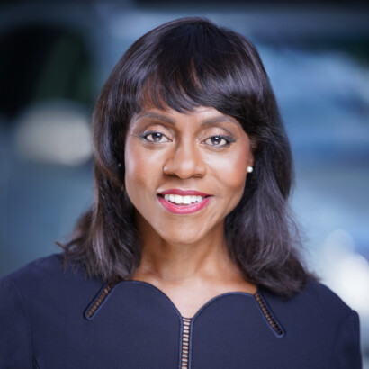 Headshot of Wonya Lucas, president and CEO, Crown Media Family Networks
