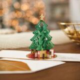 Hallmark Tree With Presents 3D Pop Up Christmas Card