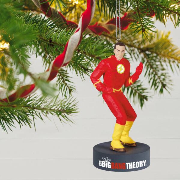 Hallmark Keepsake Ornaments - The Big Bang Theory™ Sheldon Cooper™ as The Flash™ Ornament With Sound